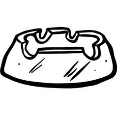 black and white ashtray vector image