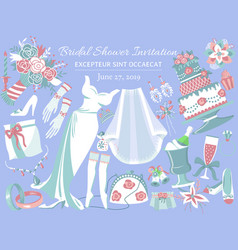 bridal shower invitation banner vector image