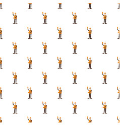 builder pattern seamless vector image