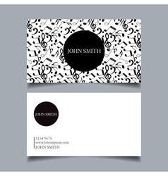 Business card design project vector image
