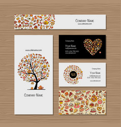 business cards design idea for sweets shop vector image