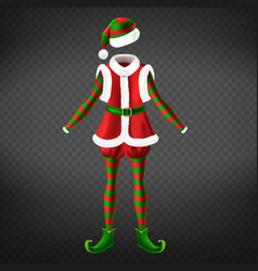 christmas elf empty costume realistic vector image