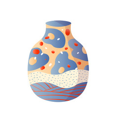 classic home modern vase colorful fashion style vector image