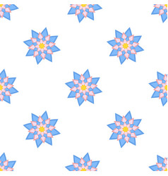colorful seamless pattern of abstract flowers on vector image
