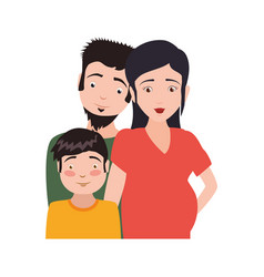 couple family pregnancy and kid vector image