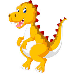 Cute baby dinosaur vector