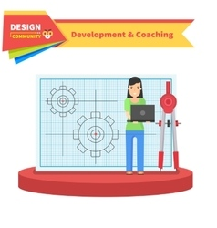 Development and Coaching Woman vector