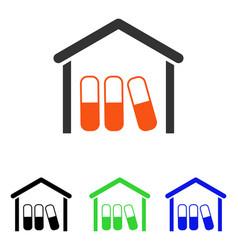 Drugs garage flat icon vector