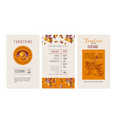 eco bar tangerine banners vector image