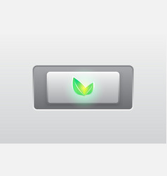 Eco green iconbuttonmodern vector