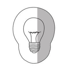energy bulb power icon vector image