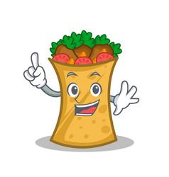 Finger kebab wrap character cartoon vector