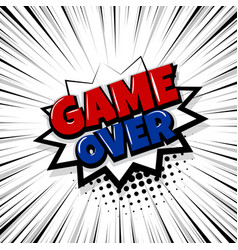 Game over comic text stripperd backdrop vector