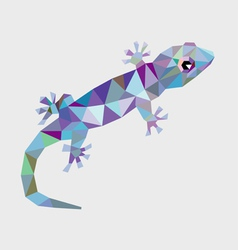 Gecko low polygon vector image