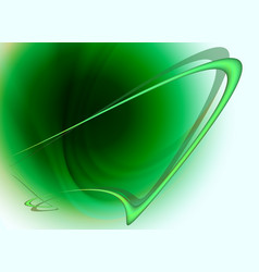 Green background with abstract frame vector