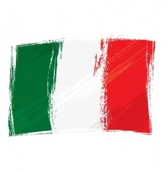 grunge Italy flag vector image