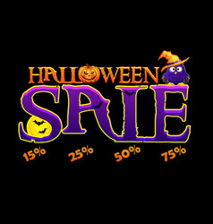 halloween autumn sale banner vector image