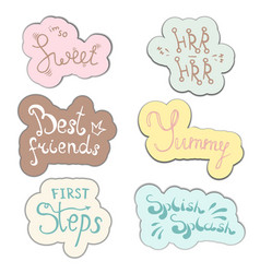 hand drawn set inspirational quote about baby for vector image