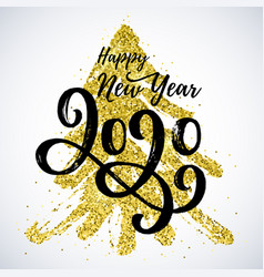 happy new year 2020 card vector image