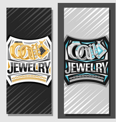layouts for jewelry vector image