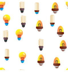 light bulbs flat and linear icons seamless vector image