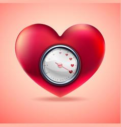 love meter scale love heart indicator vector image