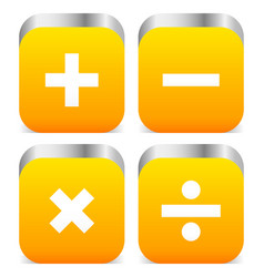 math symbols vector image