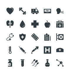 Medical and Health Cool Icons 7 vector