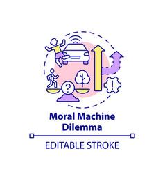 Moral machine dilemma concept icon vector