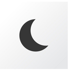Night icon symbol premium quality isolated moon vector