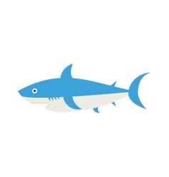 Ocean animal design of cartoon shark vector image