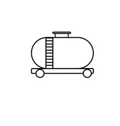 oil tank icon vector image