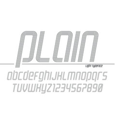 plain display font popart design alphabet vector image