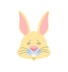 rabbit sleeping emoji hare asleep emotions animal vector image
