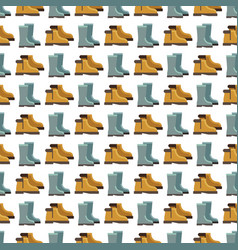 rain boots seamless pattern design vector image