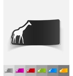 realistic design element giraffe vector image