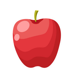 red apple fruit isolated on white background vector image