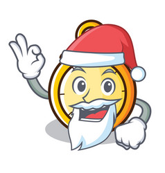 Santa chronometer character cartoon style vector