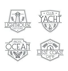 Sea badges and icons vector image