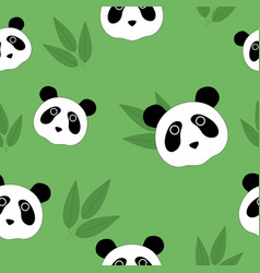 seamless pattern with pandas vector image