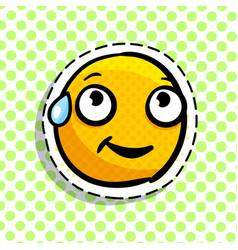 shy yellow emoji vector image