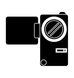 Silhouette camcorder film video travel device vector