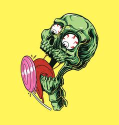 Sweet skull candy vector