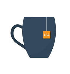 tea time cup of tea vector image
