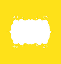 Template frame design for greeting card on yellow vector