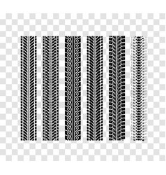 tire tracks collection vector image
