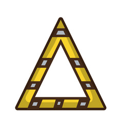 triangle attention symbol to security precuation vector image