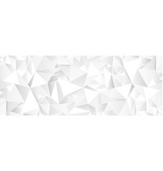 white polygonal abstract mosaic background vector image