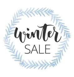 Winter sale hand written inscription vector image