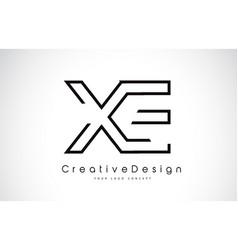 Xe x e letter logo design in black colors vector